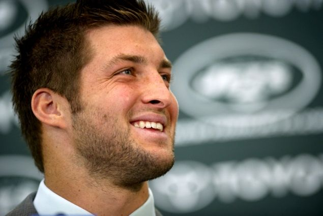 """""""NY Jets' Tim Tebow makes NFL Network list of Top 100 players of 2012 while Mark Sanchez left off the list"""" NYDailyNews (April 29, 2012)"""