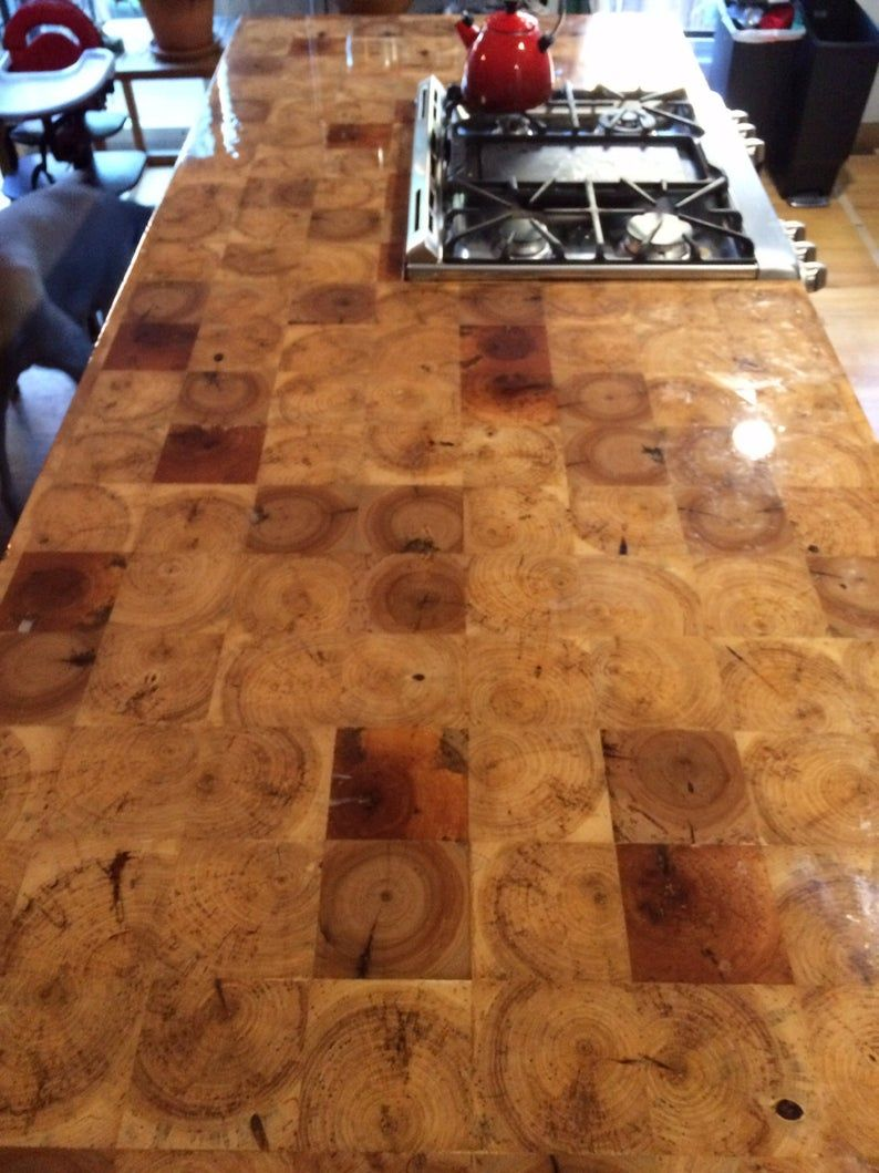 Reclaimed Barn Beam End Grain Counter Top 30x72 Or Custom Table Top Island Top Bar Top Butcher Block Industrial Modern Countertops Cheap Countertops Kitchen Countertops
