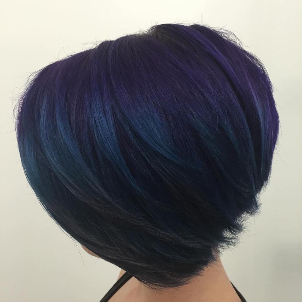 dark blue hairstyles that will brighten up your look blue bob