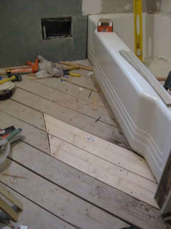 Hanging Cement Board Drywall Fixing The Subfloor Young House Love Bathroom Construction Diy Bathroom Cleaning Wood