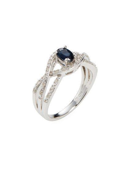 137db92db4 Sapphire | Jewelry | Crossover ring, Sapphire diamond, Rings
