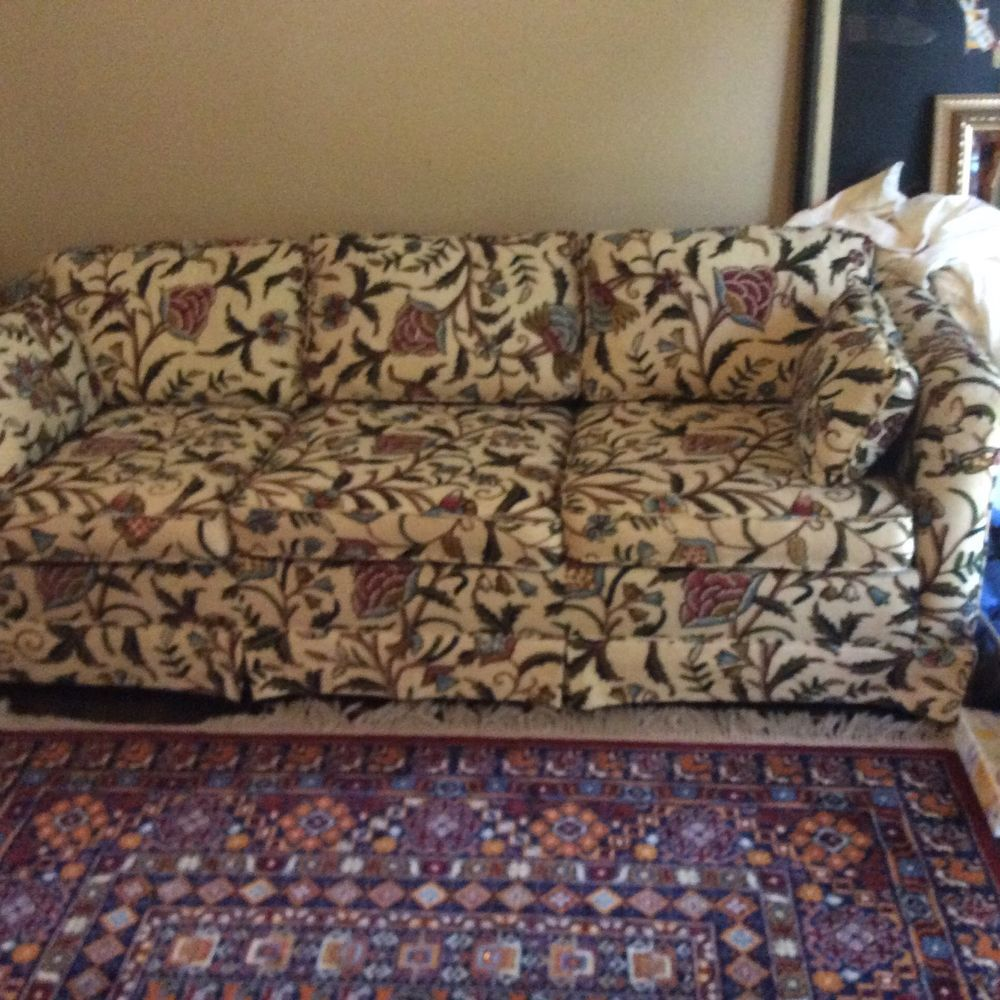Ethan Allen Sofa Crewel Vintage Sofa Beautiful Pick Up Only