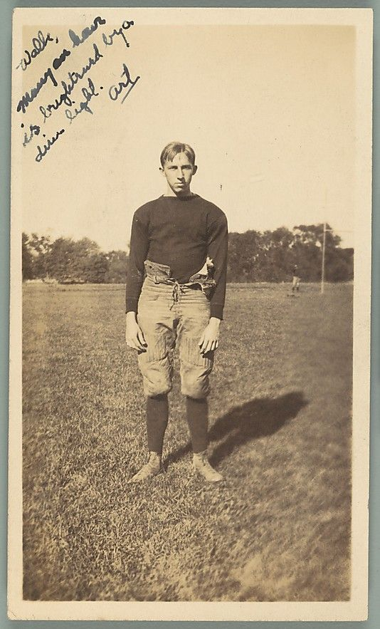 Unknown, American. [School Friend of Walker Evans on Football Field, Loomis Institute, Windsor, Connecticut], 1920–21. The Metropolitan Museum of Art, New York. Walker Evans Archive, 1994 (1994.261.148) #MetGridironGreats