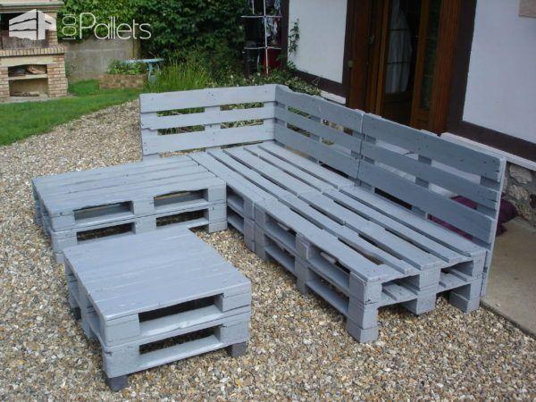 Pallets Garden Lounge / Salon De Jardin En Palettes Europe Lounges ...