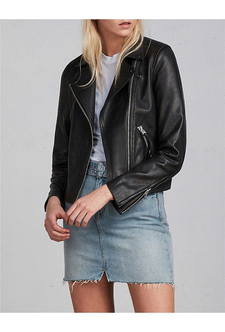 2c67ff55c0b ALLSAINTS Dalby leather biker jacket in 2019   Quality Wardrobe ...