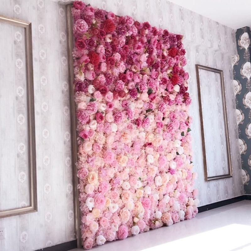 Artificial Flower Wall Rose Hydrangea Flower Background Wedding Flowers Home Party Wedding Decoration Flower Wall Backdrop Diy Flower Wall Flower Wall Decor