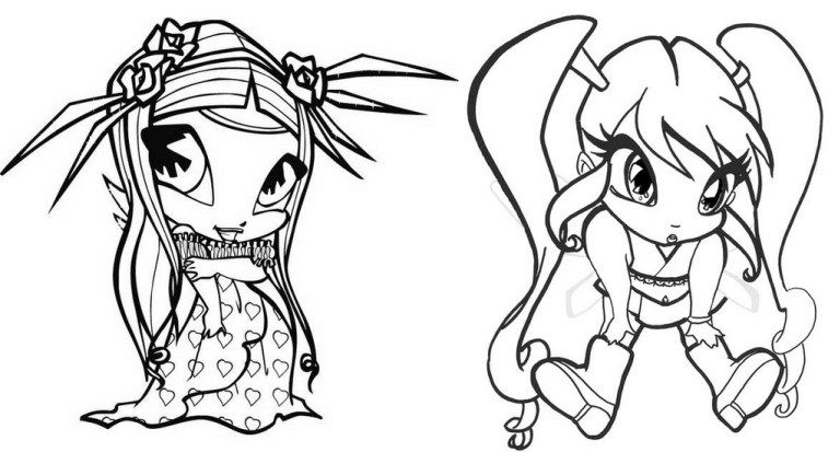 Amore And Chatta Pop Pixie Coloring Page Pretty And Cute Pop Pixie