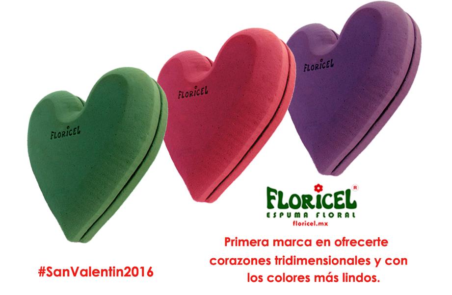 A sólo 1 mes de #SanValentin2016!  #EspumaFloral #FLORICEL les ofrece corazones tridimensionales. #FuimosLosPrimeros