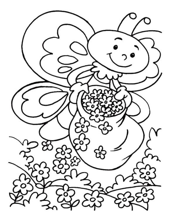 coloring pages printable spring flowers - Printable Spring Coloring Pages