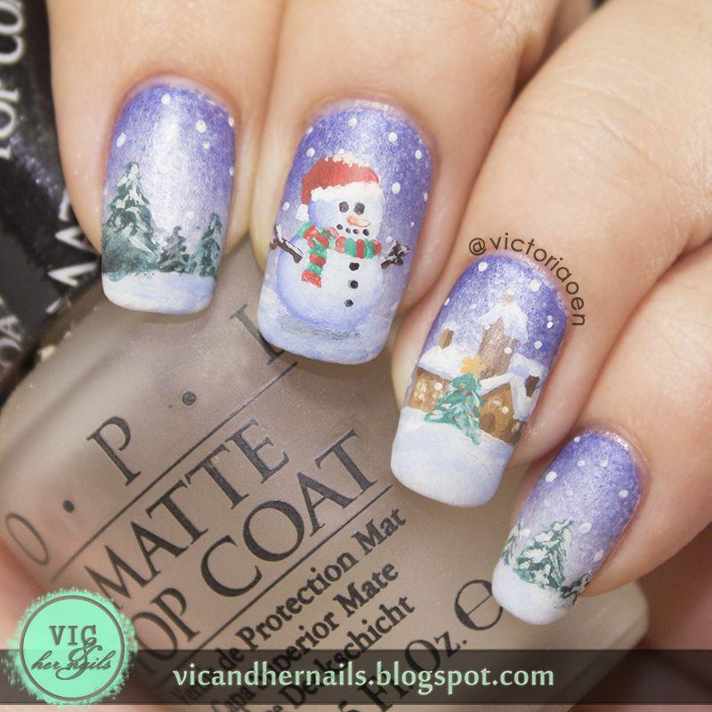 Vic And Her Nails Digital Dozen Does Winter Wonderland Day 4