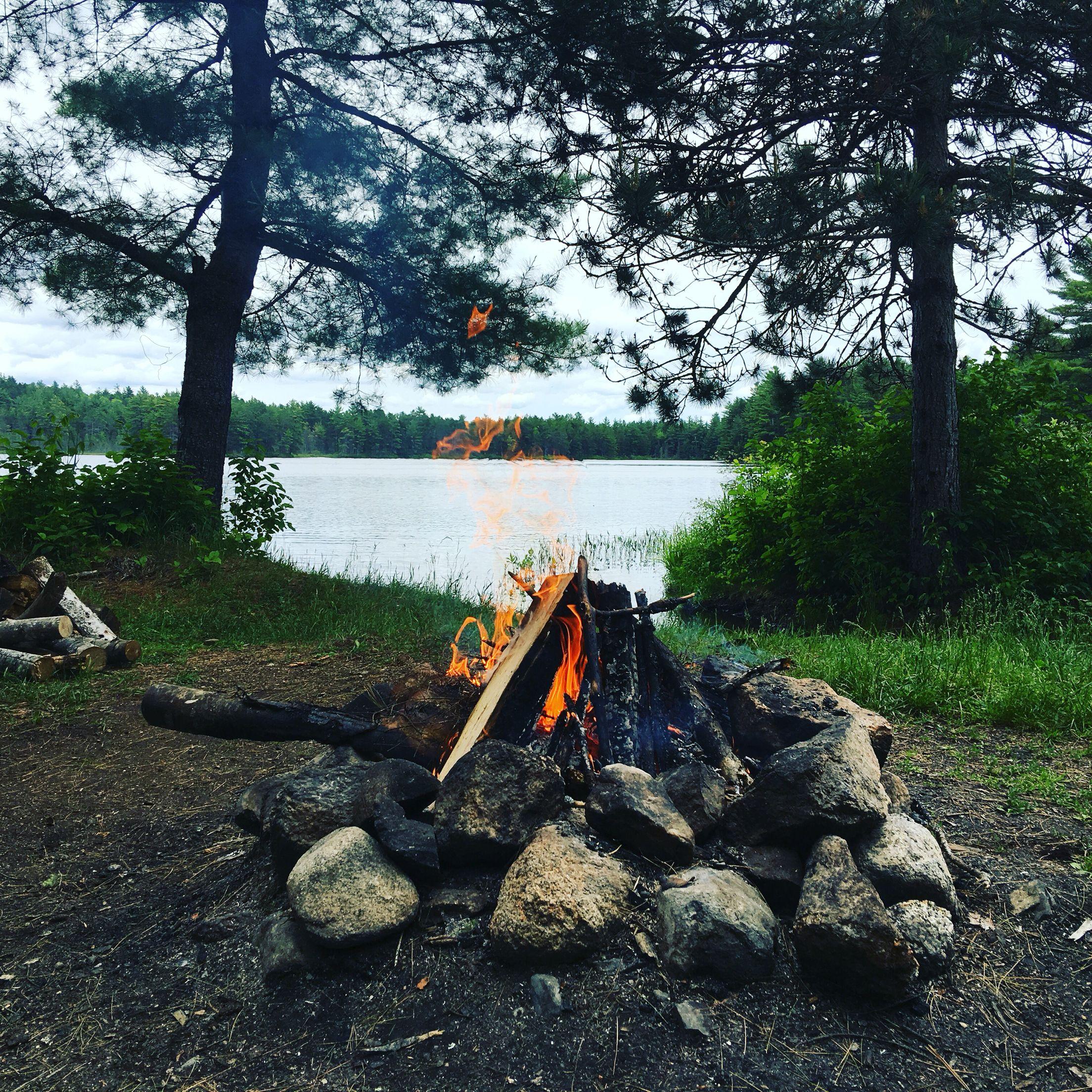 Camping at Little Oxhead Lake near Burlington, Maine ...