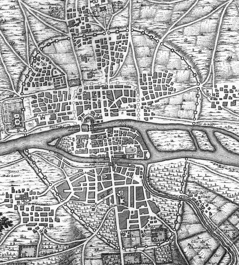 Enceinte-philippe-auguste-1223-paris - Enceinte de Philippe Auguste — Wikipédia