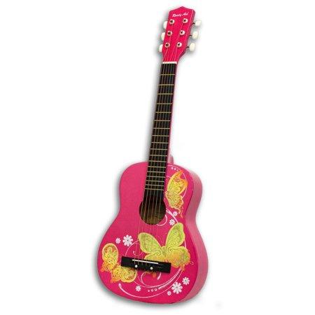 Acoustic Toy Guitar Pink Butterfly 30 Walmart Com Learn Bass Guitar Guitar Guitar Kids