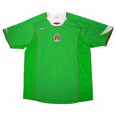 Nike mexico home jersey 2004 06 fifa confederations cup germany 2005 ... b8b8964e37825