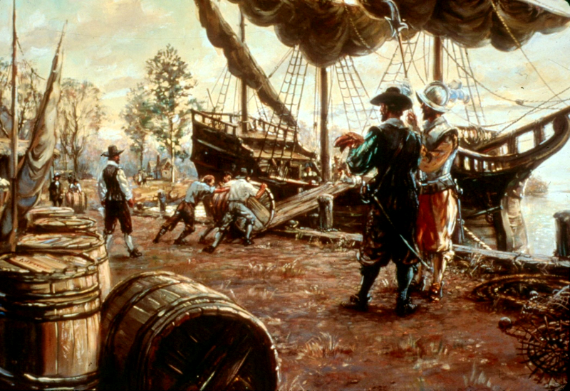 indentured servants and slaves were the first port workers