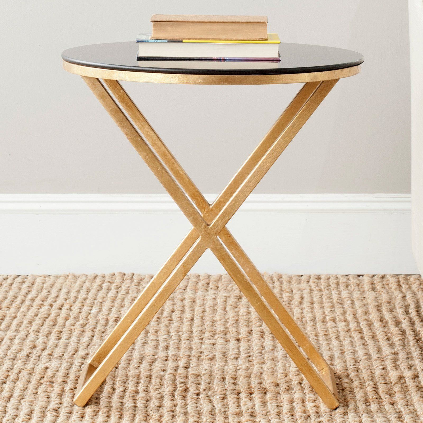 Safavieh Riona Accent Table Gold End Tables At Hayneedle