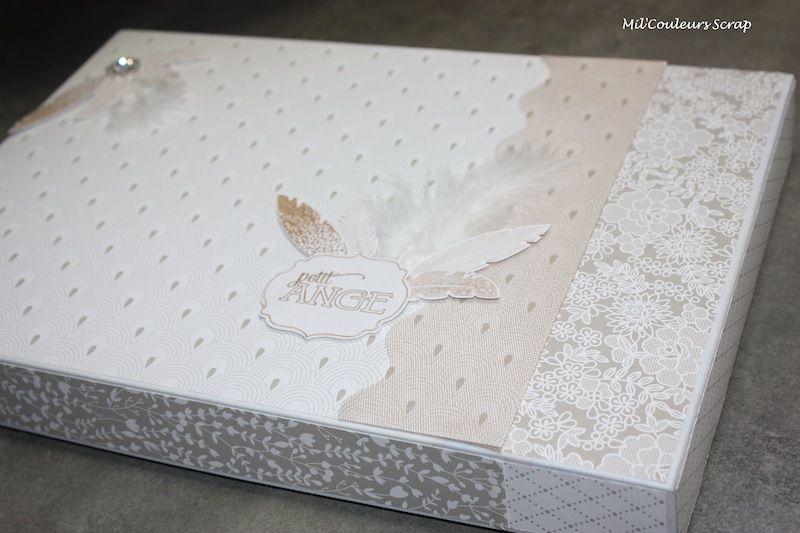 Transformer une boite de chocolat en joli coffret à offrir. Habillage avec les papiers de la Série Design Voile et Dragées de Stampin'Up.