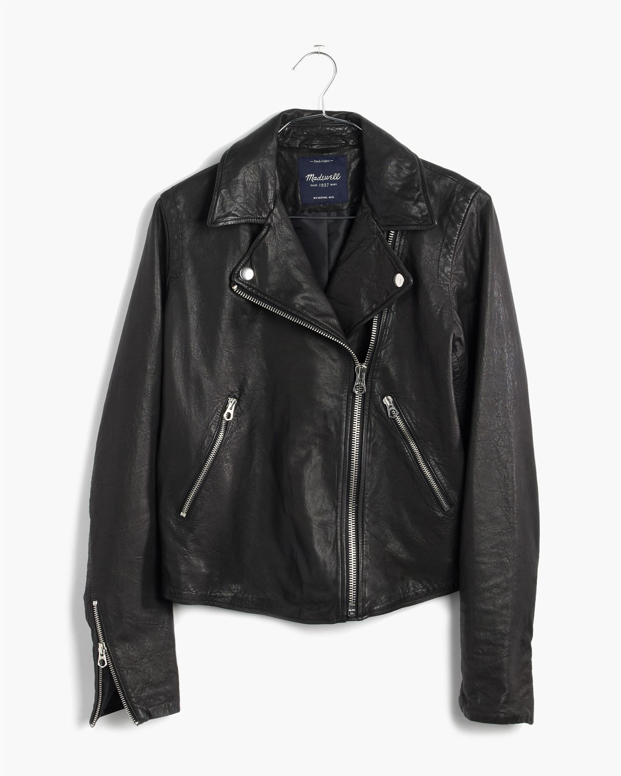 new arrivals buy online wholesale price Washed Leather Motorcycle Jacket | Jackets