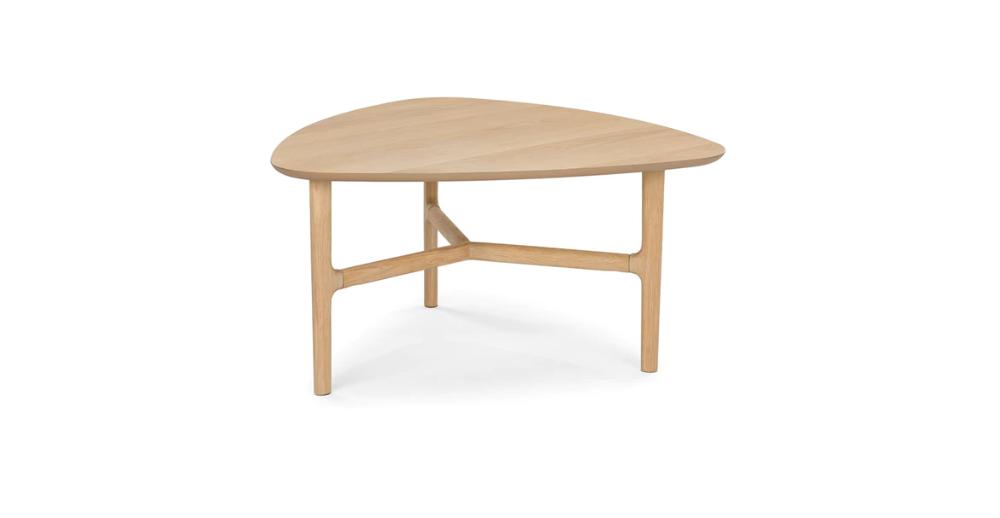 Brezza Light Oak Triangular Coffee Table In 2020 Light Oak