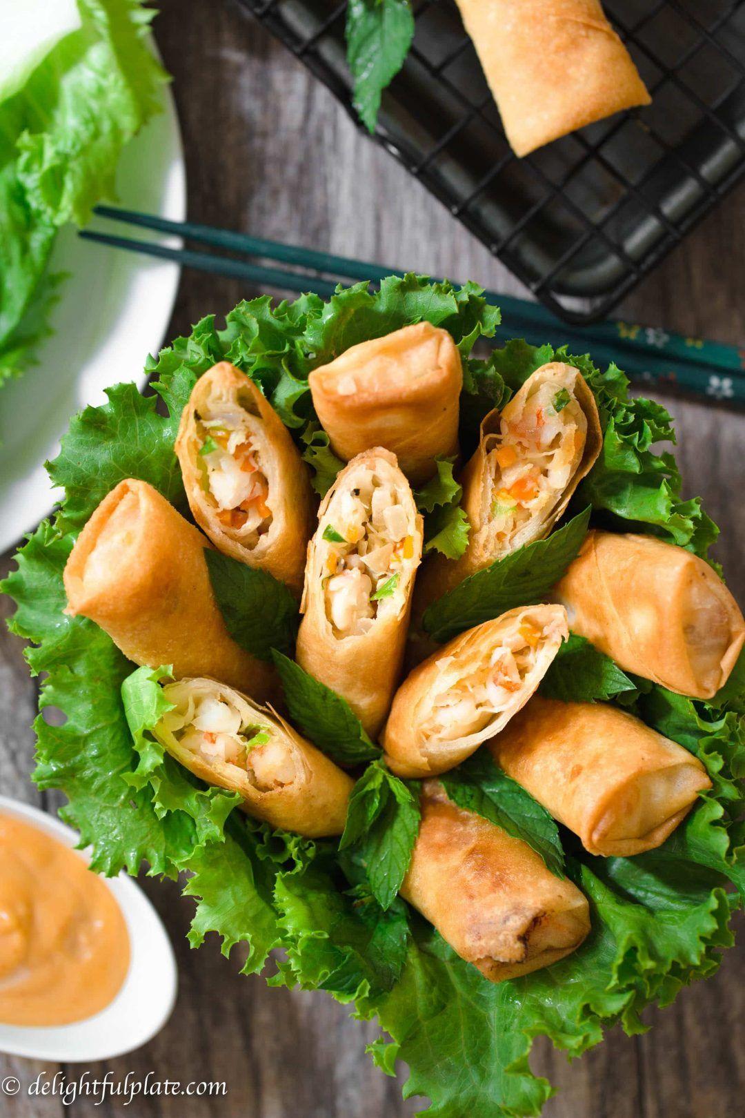 Photo of Crispy Mayo Seafood Spring Rolls (Nem hai san)