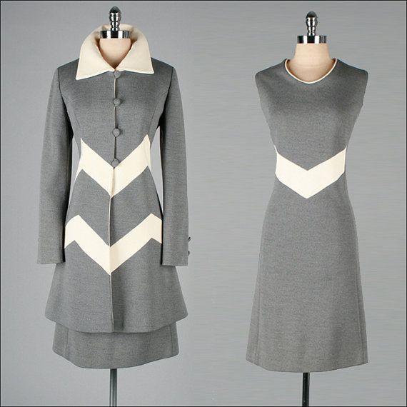 Vintage 1960s Dress and Jacket  2 pc Set  by millstreetvintage, $245.00