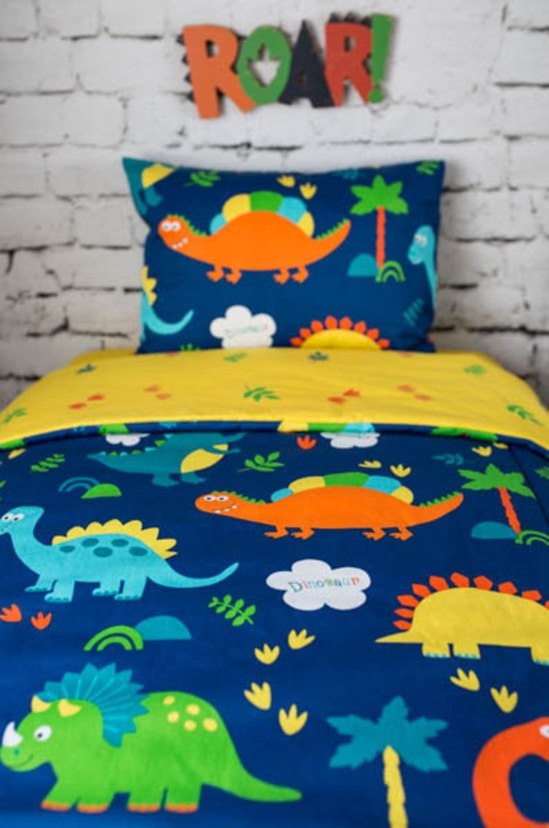 Dinosaurs Crib And Ikea Bedding For Kids Crib Bumpers Etsy Dinosaur Toddler Bedding Ikea Bed Dinosaur Bedding