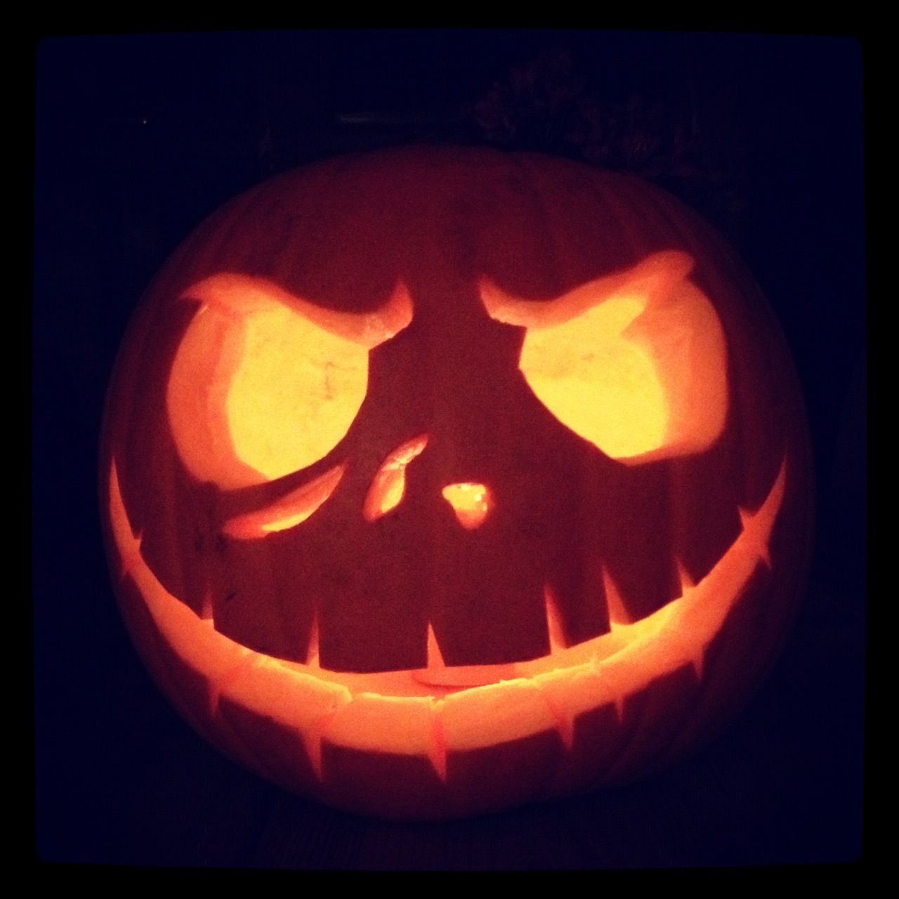 Our Jack Skellington pumpkin (from \'The Nightmare Before Christmas ...