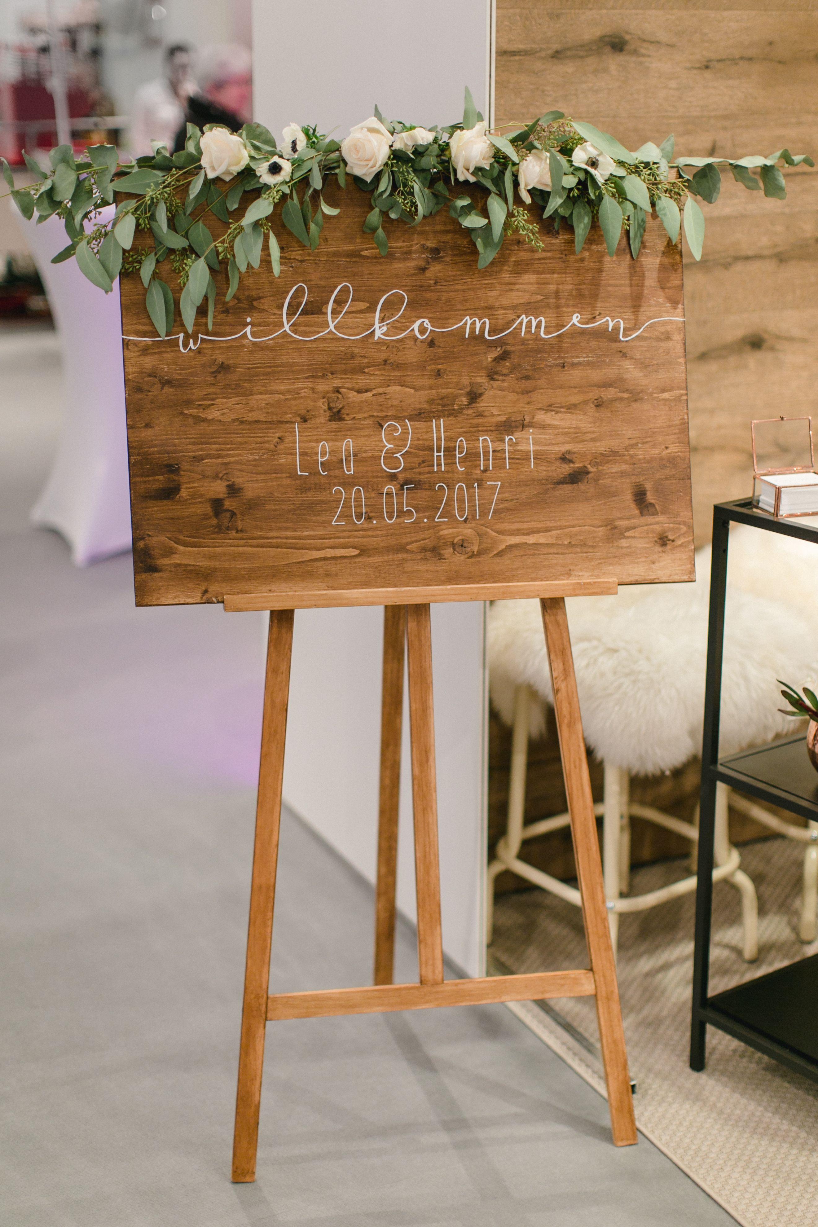 Welcome | Willkommensschild | Staffelei | Hochzeitstag | rustikal ...