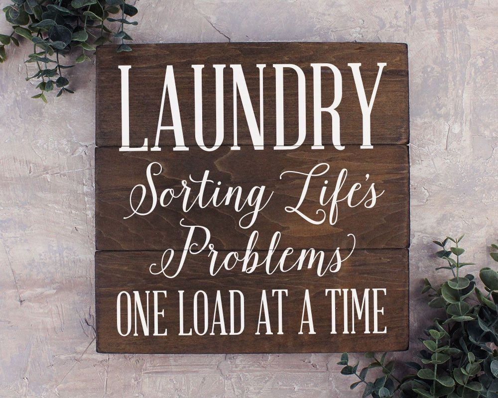 Rustic Laundry Sign Laundry Sorting Life's Problems Laundry Room Decor Rustic Laundry