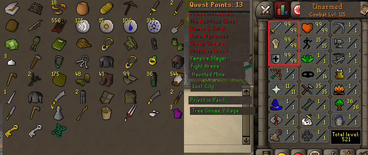 Runescape Old School Combat Level 115 With 99 Attack Strength Defense Trained By Our Own Gamer 100 No Recover Back Bans Offense