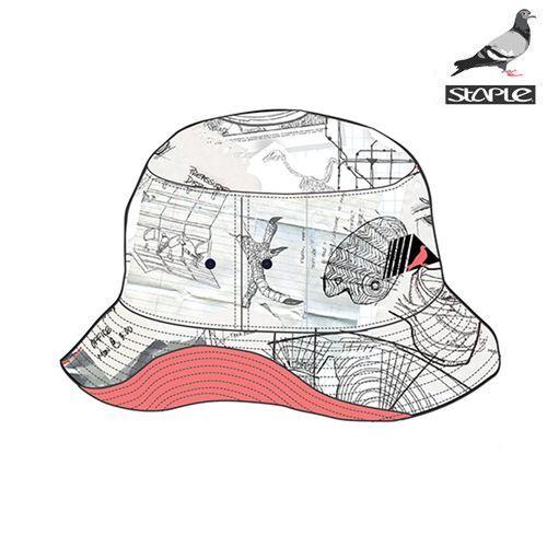 Staple Sketch Bucket Hat Hat Sketch Hat Drawing Hats