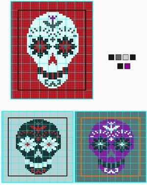 ad532fc73b9a Day of the Dead Skull Charts pattern by Erssie