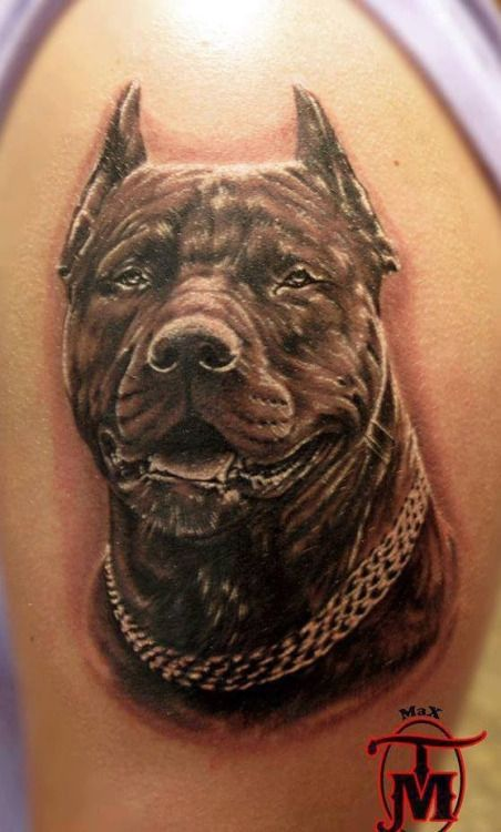 Apbt Incredible Detail In This Tattoo Pitbulls Dog Breeds Canine
