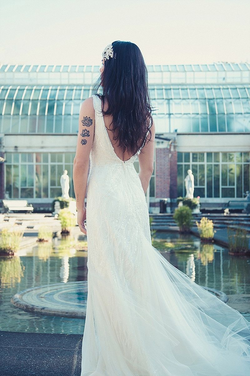 Winter gardens auckland wedding dress