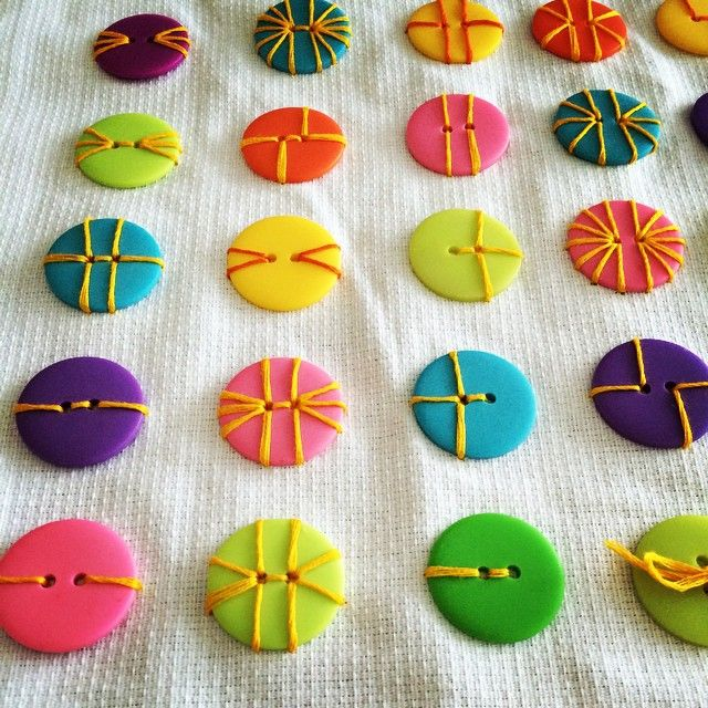 Stitch buttons onto your sewing projects with colorful