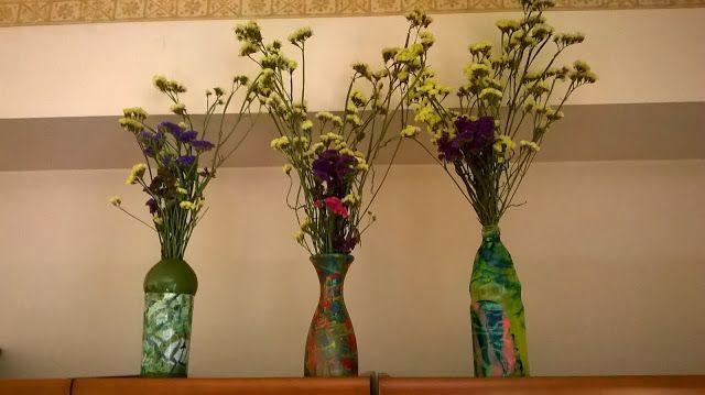Creare per Credere: Ancora riciclo......bottiglie, vasi di vetro e sma...