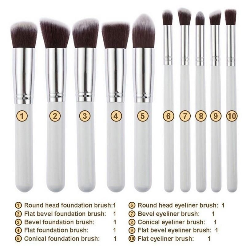 Glitter Makeup Brushes Set 7 Pcs With Glitter Case In 2019