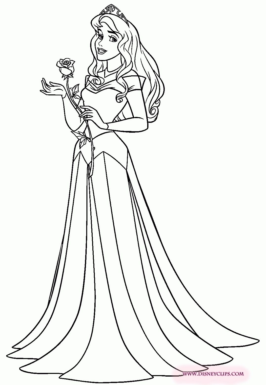 Aurora Disney Coloring Pages Disney princess colors
