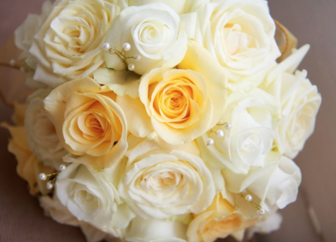 Helen Jane Floristry yellow and white rose bouquet