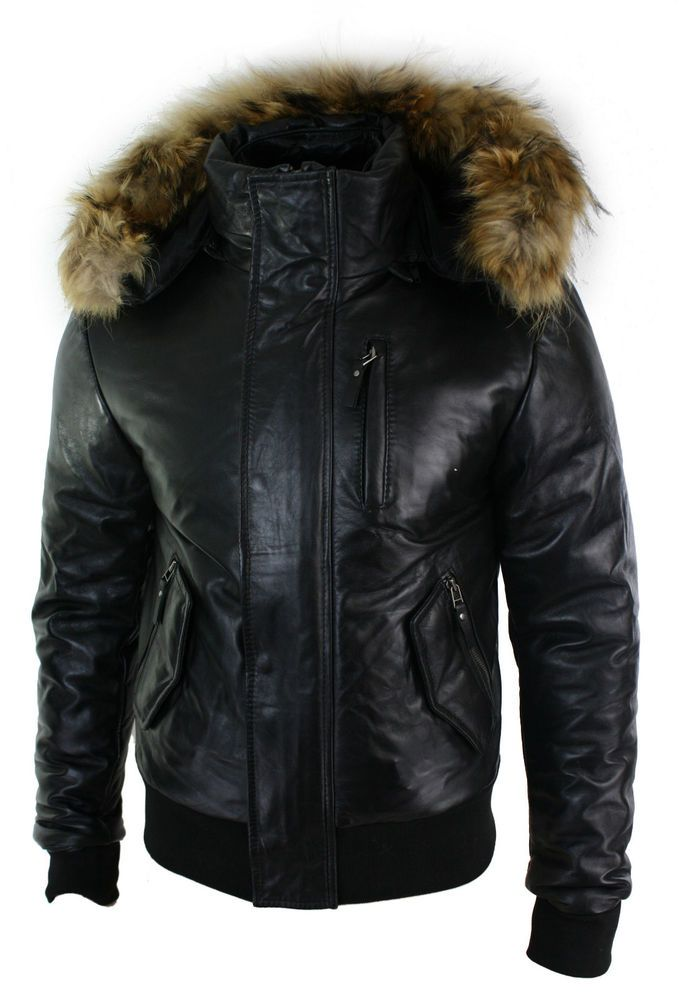 real fur lined jacket mens