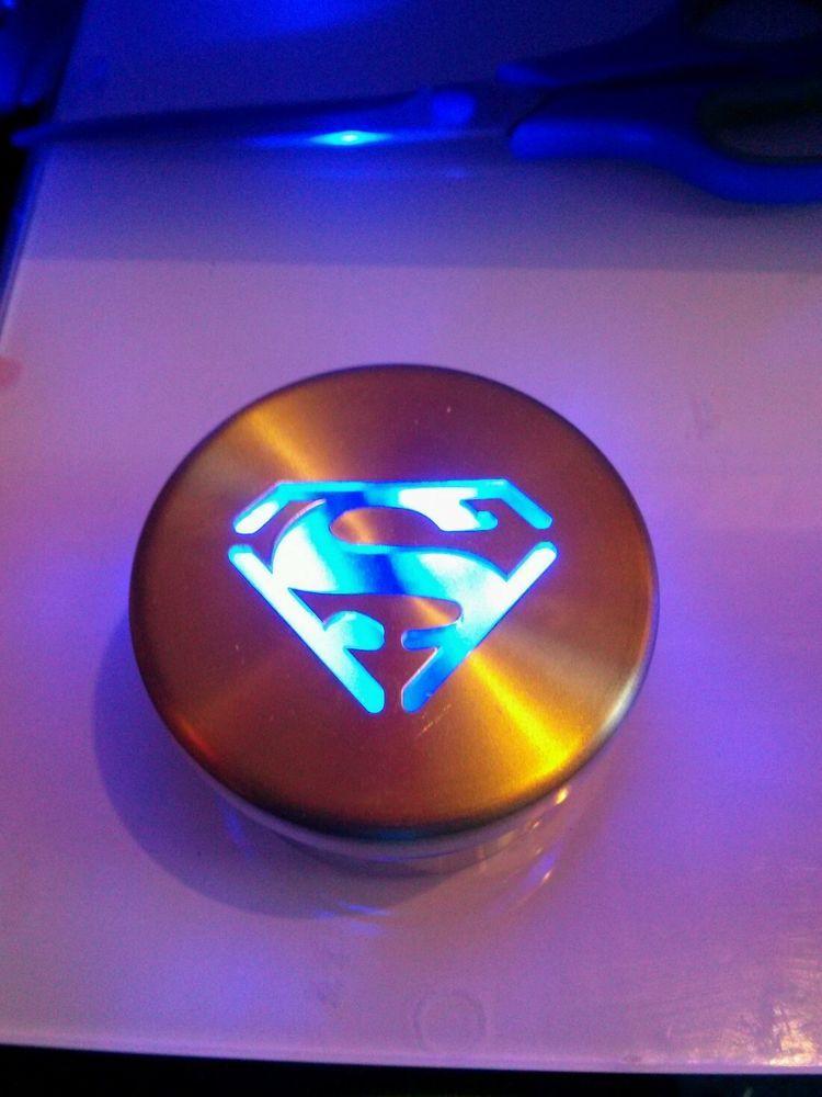 Glo Ryder Blue Led Wheel Lights W Superman Logo Cap You