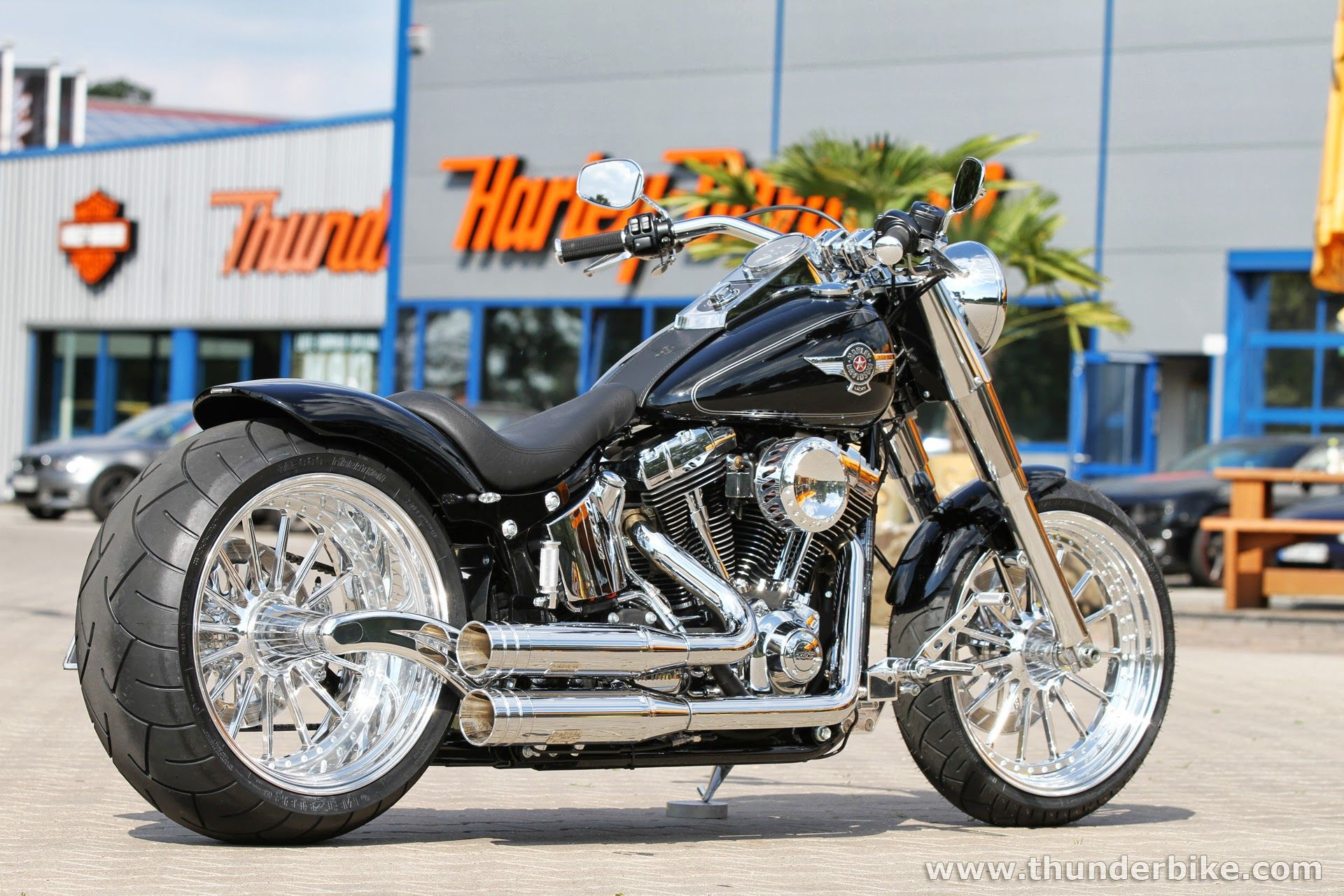 Thunderbike From Time To Time We Create Display Bikes To Show Our Latest Parts This Harley D Harley Davidson Motorcycles Harley Bikes Harley Davidson Bikes