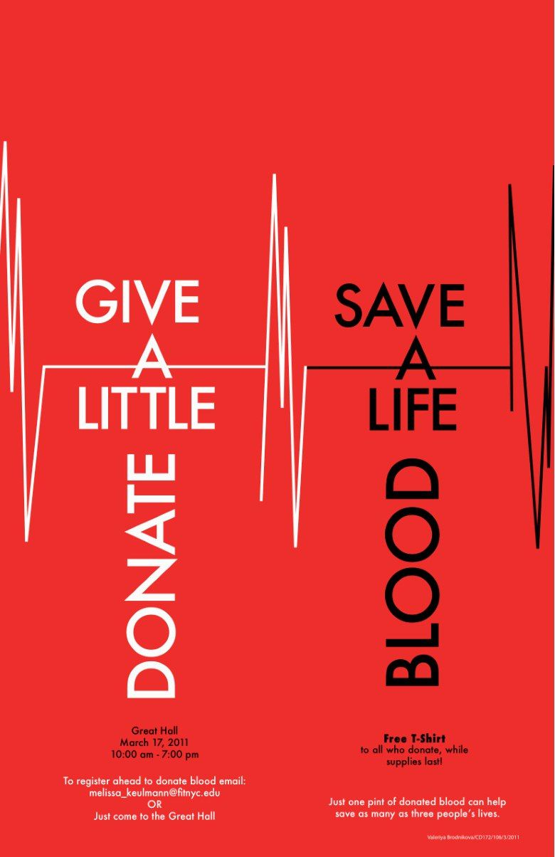 2ba183b25e56c Poster for Blood drive at FIT