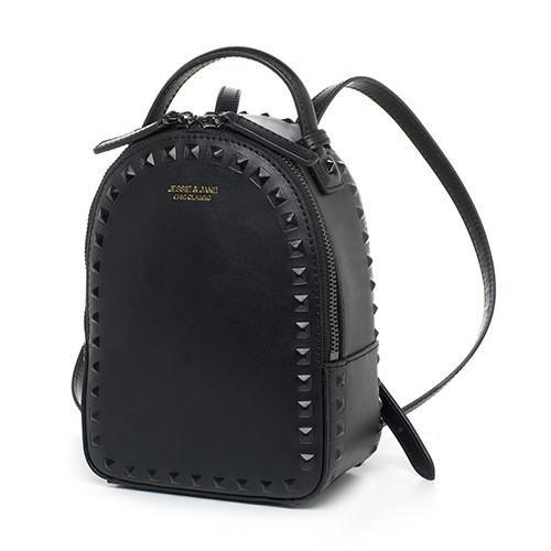 JESSIE   JANE Women s Fashion Rivet Design Split Leather Backpack Women  Casual Daypacks 1825 8b1ef23908b1e