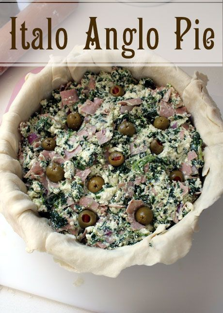 Mortadella, ricotta and olive pie: an Italo Anglo Pie ...
