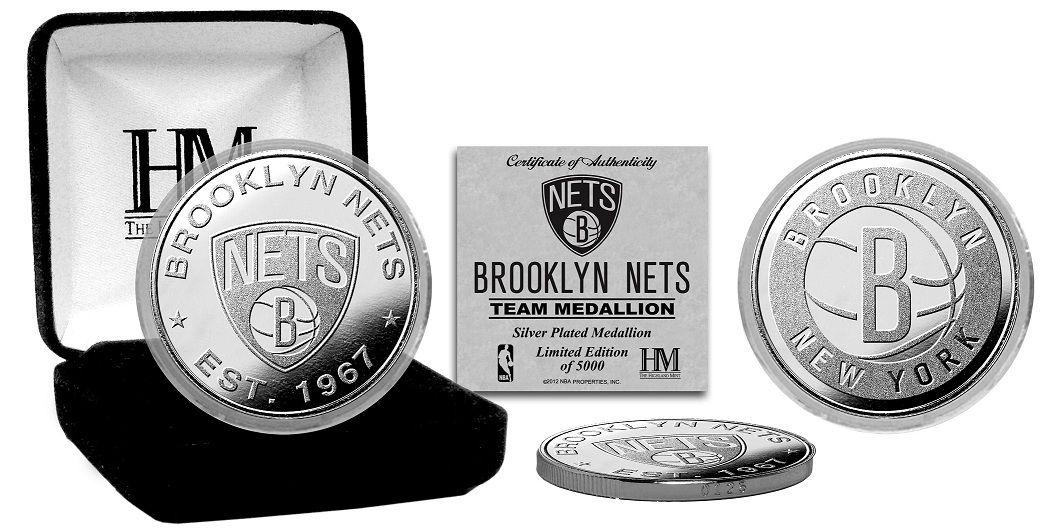AAA Sports Memorabilia LLC Brooklyn Nets Silver Coin