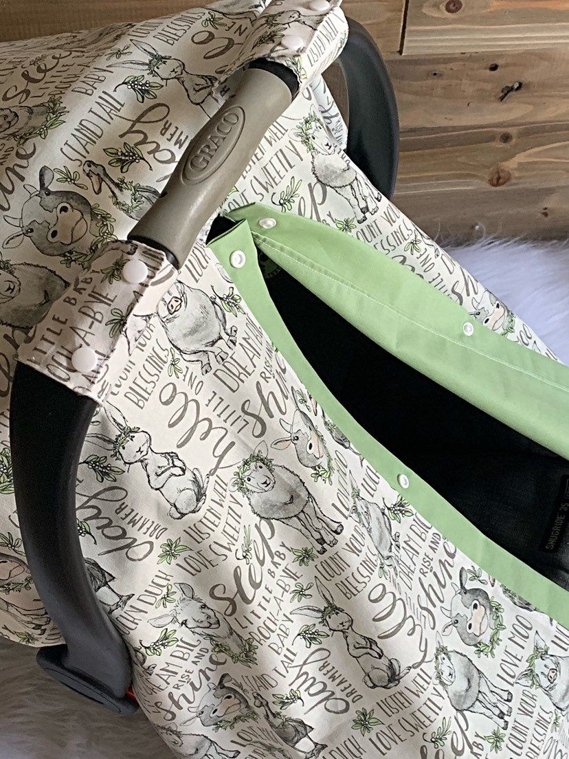 Farm animal car seat canopy baby carseat cover baby