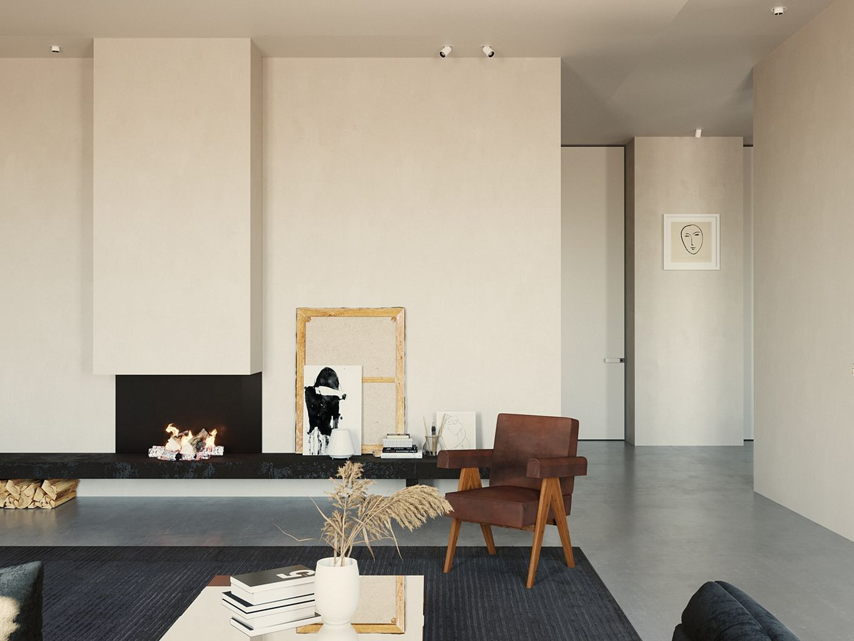 Simple and minimalist apartment interior scandinavian