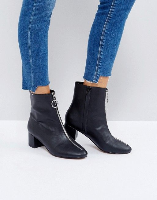 ASOS ROMY Zip Heeled Boots   please and thank you   Pinterest ae19cef3dbf5