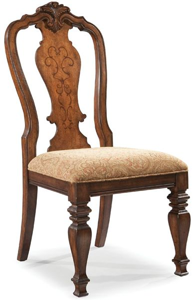 Royal Traditions Side Chair With Upholstered Seat 209 00 In 2019